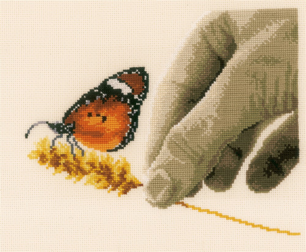 Vervaco Hand and Butterfly Cross Stitch Kit