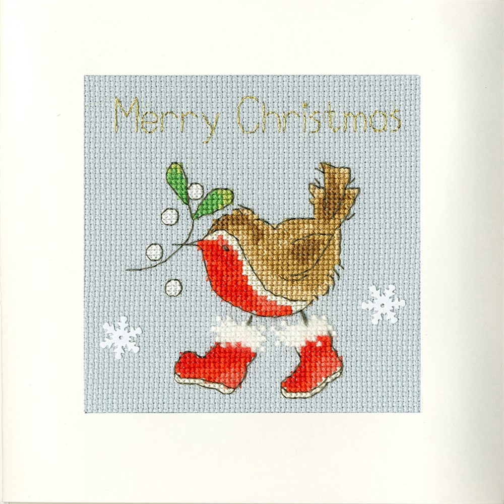 Bothy Threads Step into Christmas Card Making Cross Stitch Kit
