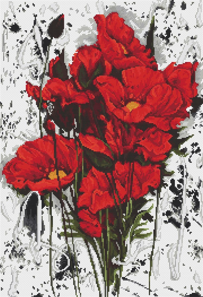 Luca-S The Poppies Cross Stitch Kit