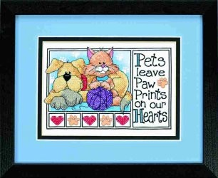 Dimensions Paw Prints Cross Stitch Kit