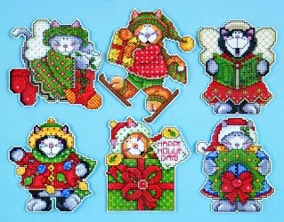 Design Works Crafts Kittens (6 ornaments) Christmas Cross Stitch