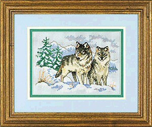 A Pair of Wolves -  Cross Stitch Kit