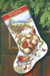 Santas Journey Stocking -  Christmas Cross Stitch Kit