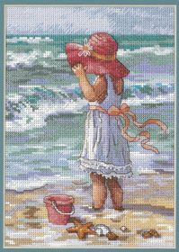 Girl at the Beach -  Cross Stitch Kit