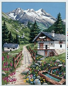 The Alps -  Tapestry Canvas
