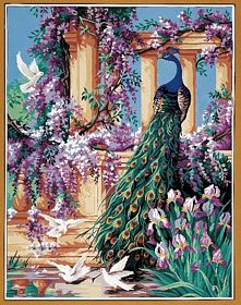 The Peacock -  Tapestry Canvas