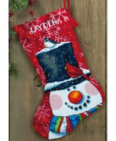 Snowman and Friends Stocking -  Christmas Tapestry Kit