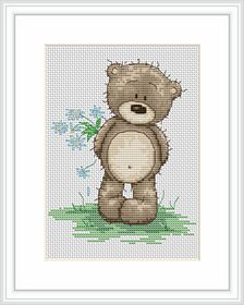 Bruno Says I Love You -  Cross Stitch Kit
