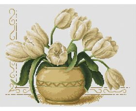 Vase of Tulips -  Cross Stitch Kit