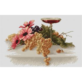 Flowers and Grapes -  Cross Stitch Kit