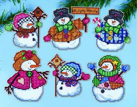 Welcome Winter Ornaments -  Christmas Cross Stitch Kit