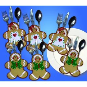 Gingerbread Man Silverwear Holders