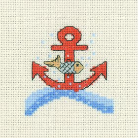 Fish and Anchor - Permin Cross Stitch Kit