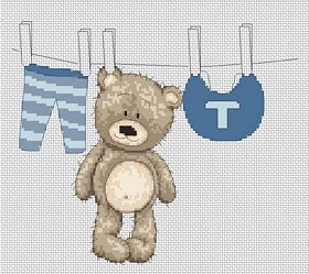 Bruno out to Dry -  Cross Stitch Kit