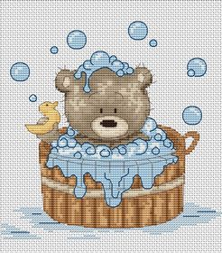 Bubble Bath with Duck -  Cross Stitch Kit