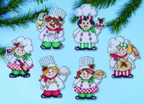 Cooking up Christmas Ornaments -  Christmas Cross Stitch Kit