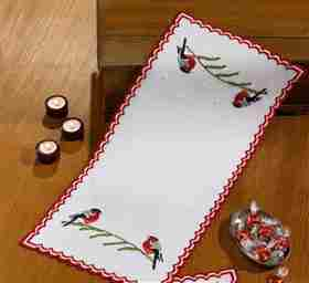 Cardinals Runner -  Christmas Embroidery Kit