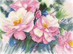 Beautiful Roses - Aida -  Cross Stitch Kit