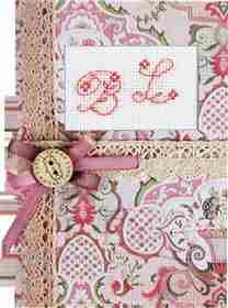 Red Monogram Card -  Cross Stitch Kit