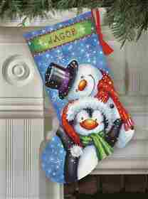 Polar Pals Stocking -  Christmas Tapestry Kit