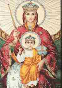 Icon Mother of God Reigning -  Cross Stitch Kit