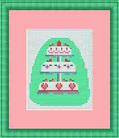 Wedding Cake Mini Kit -  Cross Stitch Kit