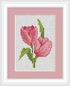 Tulips Mini Kit -  Cross Stitch Kit