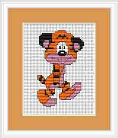 Tiger Mini Kit -  Cross Stitch Kit