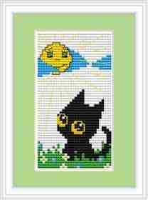 Cat Day Mini Kit -  Cross Stitch Kit