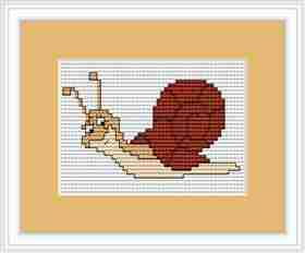 Snail Mini Kit -  Cross Stitch Kit