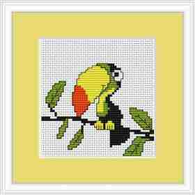Toucan Mini Kit -  Cross Stitch Kit