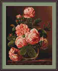 Vase of Roses -  Cross Stitch Kit