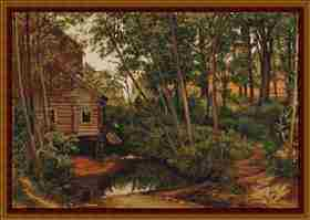Cabin in the Woods -  Cross Stitch Kit