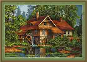 Old House in the Forest -  Cross Stitch Kit