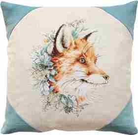 Fox Portrait Pillow -  Cross Stitch Kit