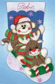 Sock Monkey Stocking