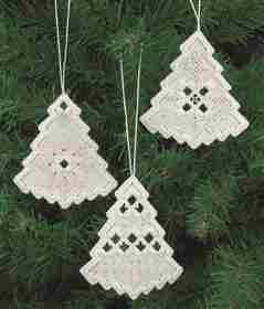 White Tree Christmas Decorations -  Christmas Embroidery Kit