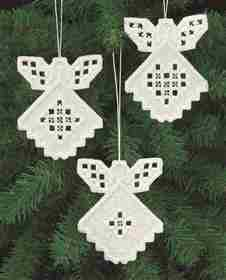 Hardanger Angels 5 -  Christmas Embroidery Kit
