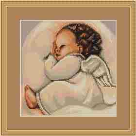 Infant Sleeping -  Cross Stitch Kit