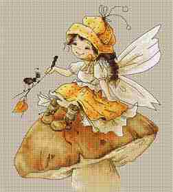 Toadstool Fairy -  Cross Stitch Kit
