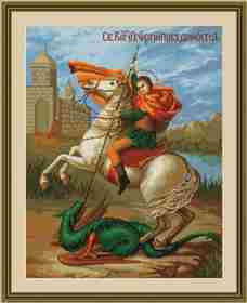 St George and the Dragon -  Cross Stitch Kit