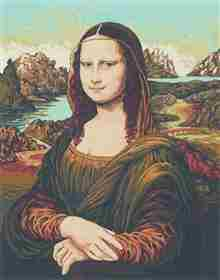 Mona Lisa -  Tapestry Canvas