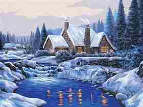 Reflections in the Snow -  Tapestry Canvas
