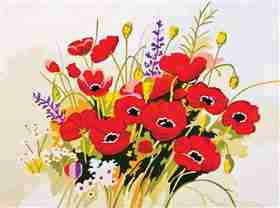 Wild Poppies -  Tapestry Canvas