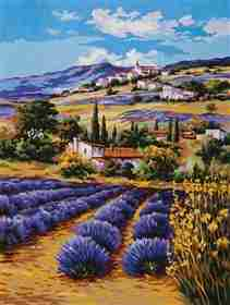 Lavender Fields -  Tapestry Canvas