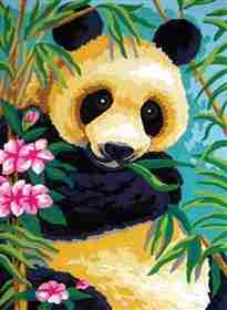Panda Snack -  Tapestry Canvas