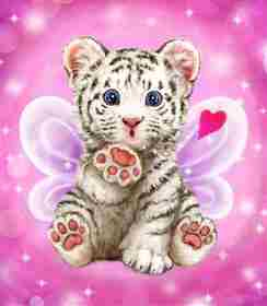 Baby Tiger Kiss -  Tapestry Canvas
