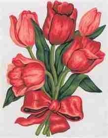 Tulips in a Bow -  Tapestry Canvas