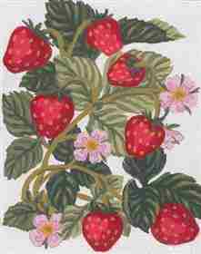 Strawberries -  Tapestry Canvas