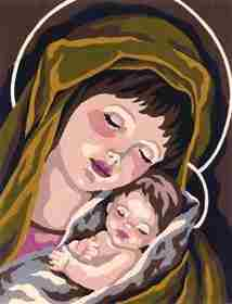 Madonna and Child I -  Tapestry Canvas
